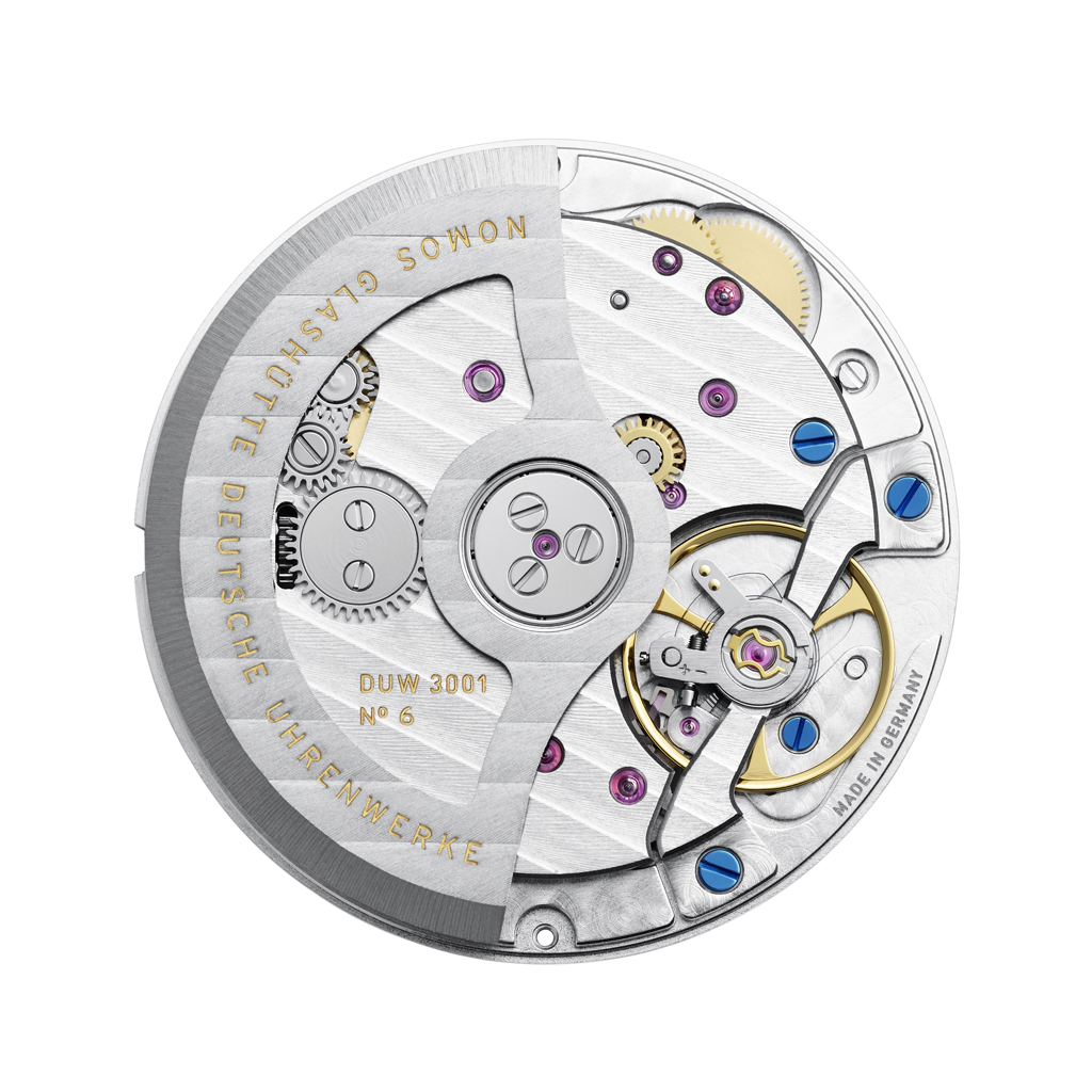 DUW 3001 Calibre with in-house escapement. Nomos©