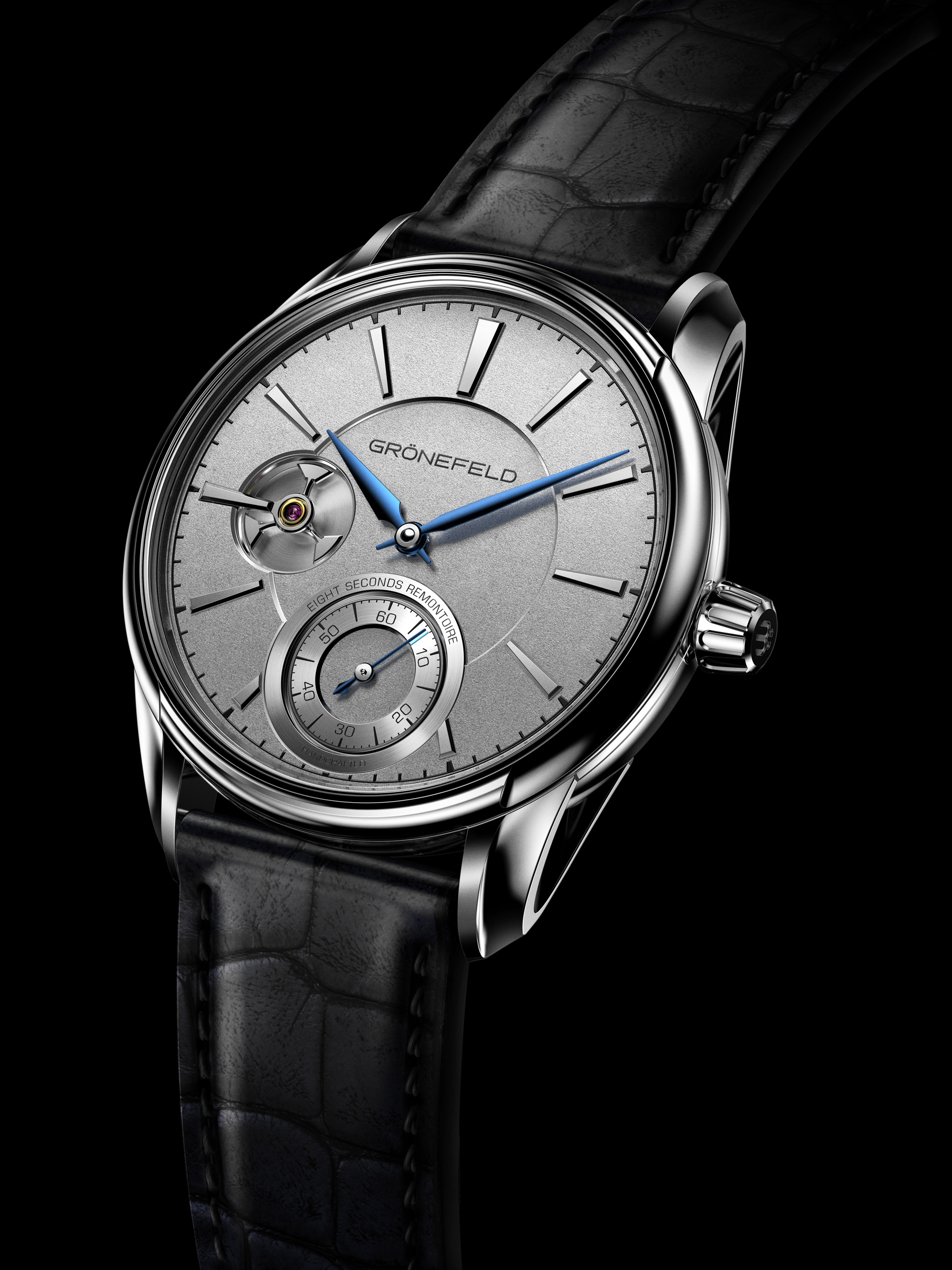 The case of the 1941 Remontoire is perfectly shaped and has a timeless design. Grönefeld©
